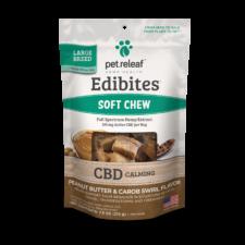 Pet Releaf Edibites: Peanut Butter & Carob Swirl (Calming) - Mindful Medicinal Sarasota CBD