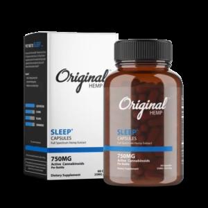 Original Hemp's Sleep Capsules | Full Spectrum Hemp Extract (750mg) - Mindful Medicinal Sarasota CBD